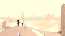 Steven's Lion Pillar standing