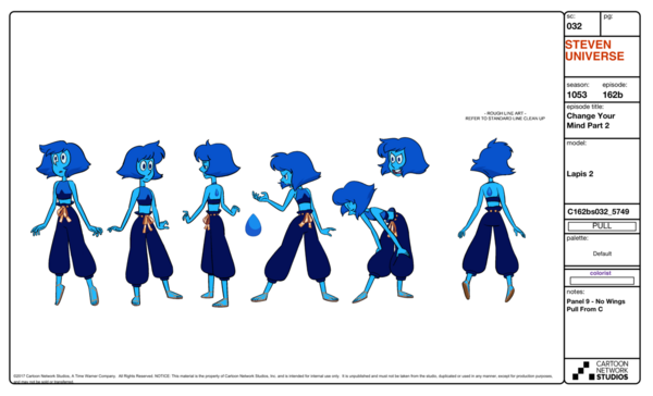 Change Your Mind - Lapis Lazuli model sheet