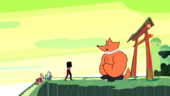 Garnet Universe Foxman sitting and waiting