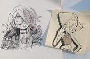 Amethyst & Pearl sketch 04