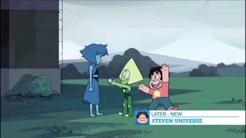 Steven Universe Lapis and Peridot accidental promo