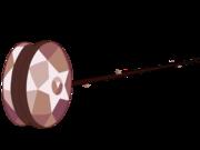 Smoky quartz yoyo weapon