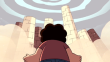 Steven's Lion The Sand Pillars and Weird colored Sky