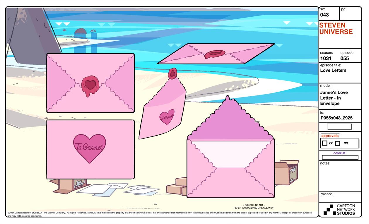 Image - Love Letters Model Sheet Love Letter.jpg   Steven Universe ...