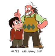 Steven and Greg Halloween 2015