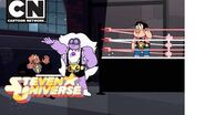Steven Universe Steven and Amethyst Pro Wrestlers! Cartoon Network