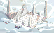 Steven the Swordfighter Cloud Temple Background