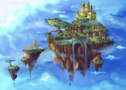 Background practice floating island by kurama chan-d50csqn