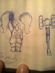 Sapphire sketch 1