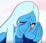 Blue Diamond hugs steven
