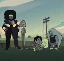 Peridot and the Crystal Gems
