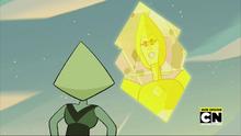 Message Received Yellow Diamond and Peridot