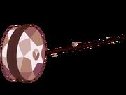 Smokey quartz yoyo weapon