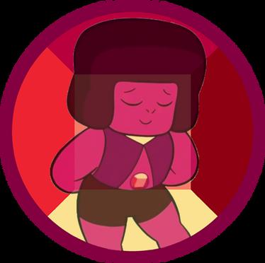 Рубин с камнем на животе