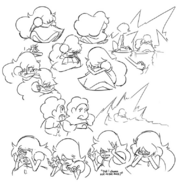 Steven and sapphire drawings