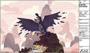Giant bird queimado