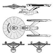 Thru-deck carrier oriskany