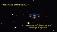 SA As It Is Written title card
