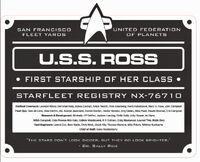 USS Ross dedication plaque