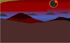 Red sun desert