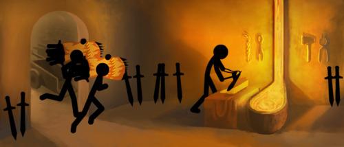 Sword forging Stick Empires
