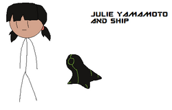 Julie and ship