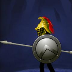Final Spearton helmet in armoury