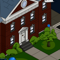 The Mansion appearing in Stick RPG 2. (outside view)