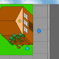 The Mansion appearing in Stick RPG Complete (outside view).