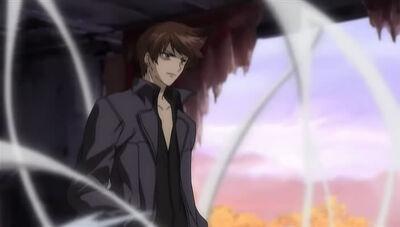 Kazuma using Wind Magic for combat