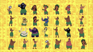 Lilo & Stitch The Series intro - characters hula dancing