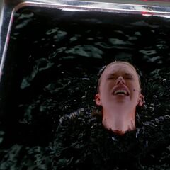 Kirsten in Fish Tank-Filled with Blood!