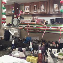 Stitchers Makeup Trailer gets a Christmas touch