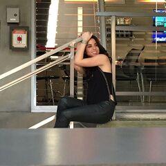 Alison on set filming Season 2