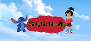 Stitch & Ai English title card