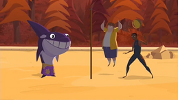 S1 E15 Wipeout, Johnny and Snack Shack play tether-ball