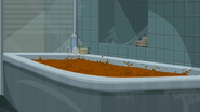 "S1 E16 Broseph points to ""boiling brown crud"" in the bath"