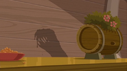 S1 E16 a rectangular shadow with large teeth appears
