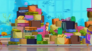 S1 E11 Fin and Lo get trapped by Broseph dragging a long line of luggage while trying to catch up to Rosie