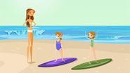 "S1 E9 Brianna says ""Sweet!"", Erica says ""My new bikini!"""