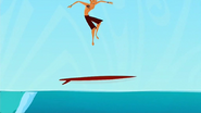 S1 E9 Reef gets air on his board