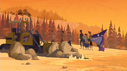"""S1 E15 Bummer says """"Now, move! I am turning this paradise into a parking lot"""""""