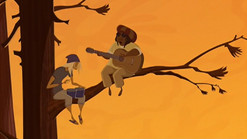 S1 E11 The person singing the song is in the tree Broseph walks past