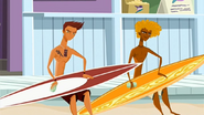 S1 E9 Reef and Broseph wax their boards