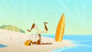 S2 E7 Broseph crash lands on the beach