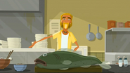 """S2 E7 The Kahuna shows how to prepare Reef's favourite meal - """"Kahuna's famous fish tacos"""""""