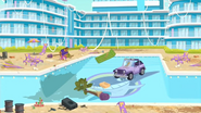 "S1 E1 Emma says ""Is that a Jeep in the pool?"""
