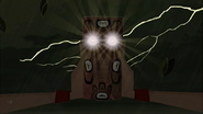 S1 E9 Lightning causes the eyes to light up
