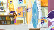 S1 E1 A diamond encrusted surfboard on display at the gift shop