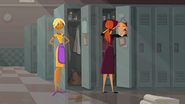 S1 E6 Fin and Emma in the staff change rooms